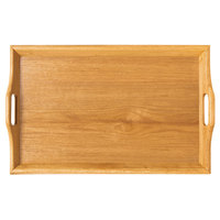 GET RST-2516-N 26 1/2 inch x 16 1/2 inch Hardwood Room Service Tray - Natural