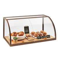 Cal-Mil 3611-S Sierra Arched Sliding Door Self-Serve Bakery Display Case with Wood Base - 36 inch x 19 1/2 inch x 17 1/4 inch