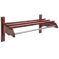 CSL TJFMB-2532CM 26 inch Cherry Mahogany Hardwood Top Bars Wall Mount Coat Rack with 5/8 inch Metal Hanging Rod
