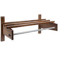 CSL TJF-2532D 32 inch Dark Oak Hardwood Top Bars Wall Mount Coat Rack and 1 inch Metal Hanging Rod