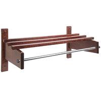 CSL TCOMB-61120CM 90 inch Cherry Mahogany Hardwood Top Bars Wall Mount Coat Rack with 5/8 inch Metal Hanging Rod
