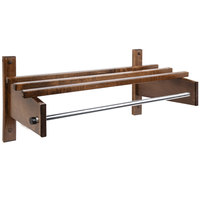 CSL TCOMB-61120D 90 inch Dark Oak Hardwood Top Bars Wall Mount Coat Rack with 5/8 inch Metal Hanging Rod