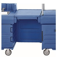 Cambro KMC24186 Navy Blue CamKiosk Connector Unit with Front Panel