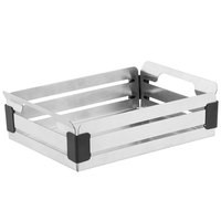 Walco CRA9BB Crate 9 inch x 6 1/2 inch Stainless Steel Bread Basket