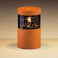Sterno Products 80248 4 1/2 inch Terracotta Ceramic Liquid Candle Holder