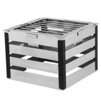 Walco CRT8B Crate 8 inch Stainless Steel Tower with Grill and Burner Stand