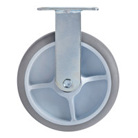 Lavex Lodging Fixed Plate Caster for Large Housekeeping Carts