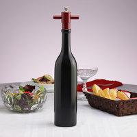 Chef Specialties 16002 Professional Series 14 1/2 inch Ebony Finish Chateau Wine Bottle Salt Mill
