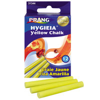 Prang 31344 Hygieia 3 1/4 inch 12 Yellow Dustless Board Chalk