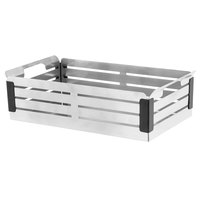 Walco CRA14BB Crate 14 inch x 8 inch Stainless Steel Bread Basket