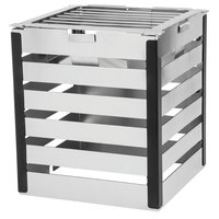 Walco CRT12B Crate 12 inch Stainless Steel Tower with Grill and Burner Stand