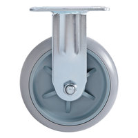 Lavex Lodging Fixed Plate Caster for Locking Housekeeping Carts