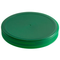 Choice Green Spice Container Lid with Flat Top and 110/400 Finish