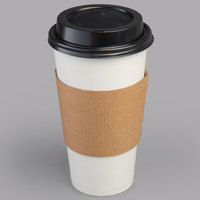 Choice 20 oz. White Paper Hot Cup, Lid, and Sleeve Combo Kit - 50/Pack