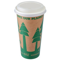 EcoChoice 16 oz. Kraft Paper Hot Cup and Lid - 100/Pack