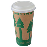 EcoChoice 20 oz. Kraft Paper Hot Cup and Lid - 100/Pack