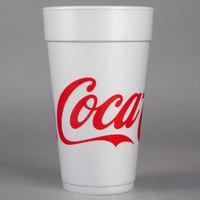 Dart 20J16C 20 oz. Coke® Foam Cup - 500/Case