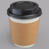 Choice 10 oz. Paper Hot Cup, Lid, and Sleeve Combo Kit - 50/Pack
