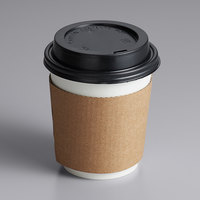 Choice 10 oz. White Paper Hot Cup, Lid, and Sleeve Combo Kit - 50/Pack