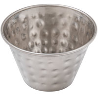 Choice 4 oz. Hammered Stainless Steel Round Sauce Cup