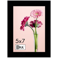 DAX 1826H3T 5 inch x 7 inch Black Solid Wood Picture Frame