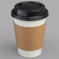 Choice 12 oz. Paper Hot Cup, Lid, and Sleeve Combo Kit - 50/Pack