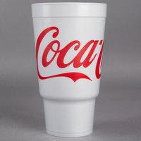 Dart 32AJ20C 32 oz. Coke® Foam Travel Cup - 400/Case