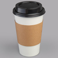 Choice 16 oz. Paper Hot Cup, Lid, and Sleeve Combo Kit - 50/Pack
