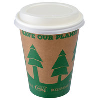 EcoChoice 10 oz. Kraft Paper Hot Cup and Lid - 100/Pack
