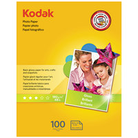 Kodak 8209017 8 1/2 inch x 11 inch Glossy Pack of 6.5 mil Photo Paper - 100/Sheets