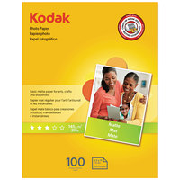 Kodak 8318164 8 1/2 inch x 11 inch Matte Pack of 7 mil Photo Paper - 100/Sheets