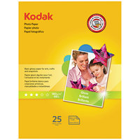 Kodak 1912369 8 1/2 inch x 11 inch Glossy Pack of 6.5 mil Photo Paper - 25/Sheets