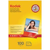 Kodak 1034388 4 inch x 6 inch Glossy Pack of 8.5 mil Premium Photo Paper - 100/Sheets
