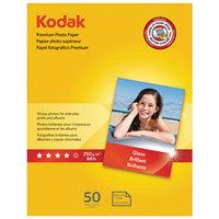 Kodak 8360513 8 1/2 inch x 11 inch Glossy Pack of 8.5 mil Premium Photo Paper - 50/Sheets