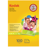 Kodak 1743327 4 inch x 6 inch Glossy Pack of 6.5 mil Photo Paper - 100/Sheets