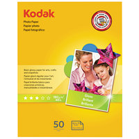 Kodak 1213719 8 1/2 inch x 11 inch Glossy Pack of 6.5 mil Photo Paper - 50/Sheets