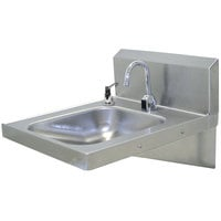 Advance Tabco 7-PS-26 Hands Free Hand Sink with Soap Dispenser - ADA Compliant