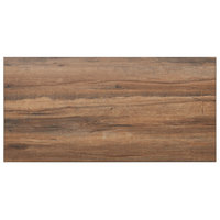 BFM Seating KP3060 Relic Knotty Pine 30 inch x 60 inch Rectangular Melamine Table Top with Matching Edge
