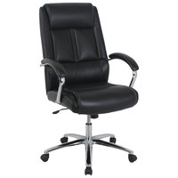 Alera ALEKA34119 Stonebriar Series High-Back Black Leather Executive Office Chair