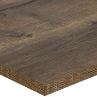 BFM Seating KP3636 Relic Knotty Pine 36 inch x 36 inch Square Melamine Table Top with Matching Edge