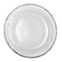 10 Strawberry Street ALS-340 Alpine 13 inch Silver Rim Glass Charger Plate