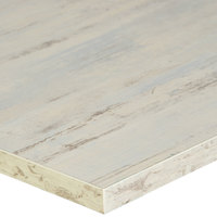 BFM Seating AW3048 Relic Antique Wash 30 inch x 48 inch Rectangular Melamine Table Top with Matching Edge