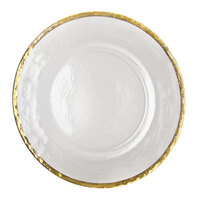 0747ec8f2fa0f Colors 10 Strawberry Street ALG-340 Alpine 13 inch Gold Rim Glass Charger  Plate