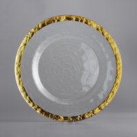10 Strawberry Street ALG-340 Alpine 13 inch Gold Rim Glass Charger Plate