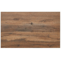 BFM Seating KP3042 Relic Knotty Pine 30 inch x 42 inch Rectangular Melamine Table Top with Matching Edge