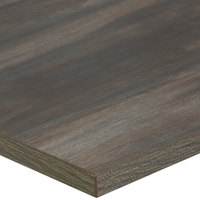 BFM Seating CS2430 Relic Chestnut 24 inch x 30 inch Rectangular Melamine Table Top with Matching Edge