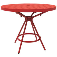 Safco 4362RD CoGo Series Red 36 inch Round Steel Table