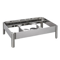 Bon Chef 22000ST Magnifico Full Size Stainless Steel Chafer Stand with Two Fuel Holders