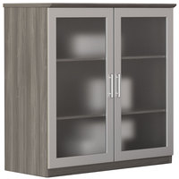 Safco MGDCLGS Medina 36 inch x 20 inch x 39 1/4 inch Gray Steel Glass Display Cabinet