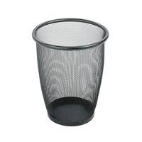 Safco 9717BL 5 Gallon Black Mesh Wastebasket